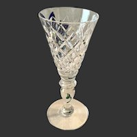 Stunning Hawkes Crystal Delft Diamonds Sherry Goblet(s)