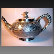 Rare Assyrian Head Meriden Britannia Tea Pot