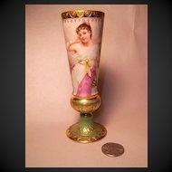 "Royal Vienna-Style Vase, SIgned Wagner ""Gehör"""