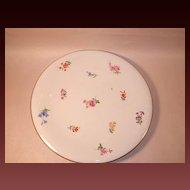"Meissen ""Scattered Flowers"" Round Platter or Plaque"