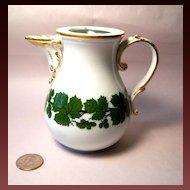 Meissen Full Green Vine Small Coffee Pot, No Lid