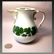 Meissen Full Green Vine Small Coffee Pot, No Lid