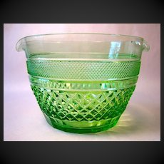 Carder Steuben Green Cut  Wine Rinser or Cooler, #7346
