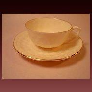 1889 Lenox Commemorative Hawthorne Demitasse Cup & Saucer