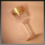 """Val St. Lambert  Pampre D'Or 6 3/8"""" Red Wine Goblet"""