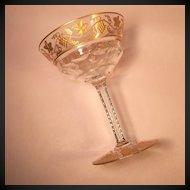"Val St. Lambert  Pampre D'Or 5 1/2"" Sherbet/Champagne"