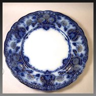 Lovely Wood & Son Seville Flow Blue Luncheon Plate