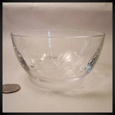 Stunning Tiffin Fernwood Crystal Finger Bowl