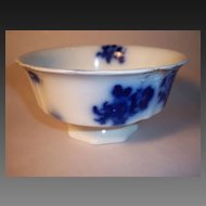 GIRONDE Flow Blue Footed Waste Bowl by W.H.Grindley & Co.