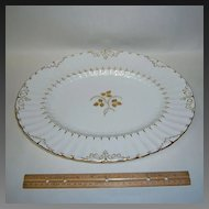 "Royal Crown Derby Wentworth 15"" Oval Platter"