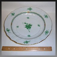 "Herend Chinese Bouquet Green 12"" Chop Plate"