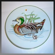 """Fitz & Floyd 'Carnard Sauvage"""" Green Winged Teal Duck Plate"""