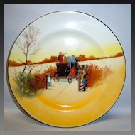 "Royal Doulton ""Coaching Days"" #E3804 Bone China Salad Plate"