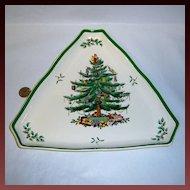 "Spode ""Christmas Tree"" Large Triangular Tray"