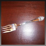 Alvin Easter Lily Silver Plate Salad Fork