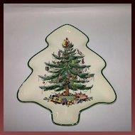 """Spode """"Christmas Tree"""" Tree Shaped Tray"""
