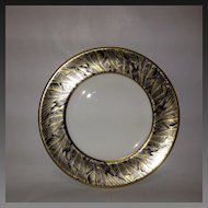 Royal Worcester Gold Feather-Cobalt Bread & Butter Plate