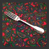 "Christofle Cluny Silver Plate OC Mark 7 1/2"" Dinner Fork"