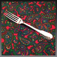"Christofle Cluny Silver Plate OC Mark 6 3/4"" Table Fork"