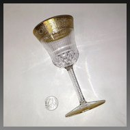Superb St. Louis Crystal THISTLE Sherry Glass