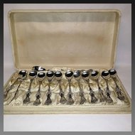 Whiting Pompadour Sterling Chocolate Presentation Set
