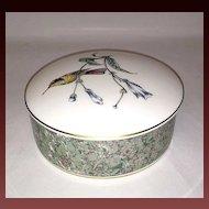 Wedgwood Bone China Hummingbirds Round Lidded Box