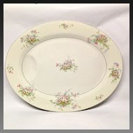 """Theodore Haviland (NY) Apple Blossom 16 1/2"""" Platter"""