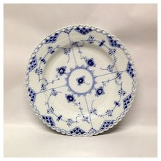 Royal Copenhagen Blue Fluted Full Lace Dinner Plate
