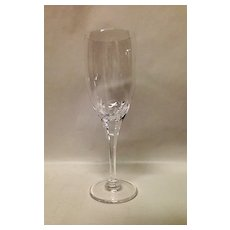 Stunning Lalique Tuileries Crystal Champagne Flute