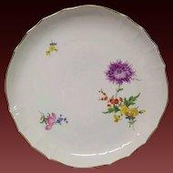 Vintage Meissen Floral Round Platter, #8401 Flowers