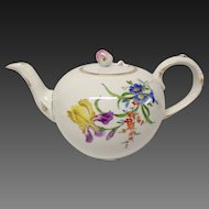 Vintage Meissen Floral Tea Pot, #8401  Flowers