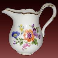 Vintage Meissen Floral Creamer, #4606 Flowers