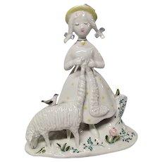 "Rosenthal Mid Century  Peynet ""Knitter"" Figurine"