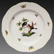 Herend Rothschild Bird Dinner Plate  #1518