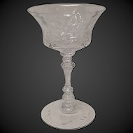 Stunning Cambridge Croesus Crystal Tall Sherbet Champagne
