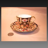 Royal Crown Derby Traditional Imari 2451 Cup and Saucer