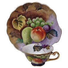 Lovely Lefton 2-Piece Hand Painted Snack Set Fruit