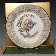 Lenox Boehm Bird Collector Series Meadow Lark Plate
