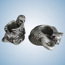 Pewter candlestick holders - new miniature - 2 different themes