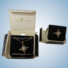 Sarah Coventry Necklace and matching ring in orig. box ...date in 1970's