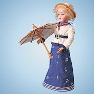 Simon & Halbig - 1159 Lady Doll - Antique German doll - 20 inches - Sailor Dress