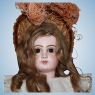 Tete Jumeau, French doll with closed mouth, Size 10 and 23 inches tall