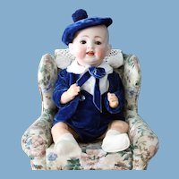 """German antique baby doll-price lowered-Hertel & Schwab - marked """"Made in Germany - 151"""" -15 inches"""