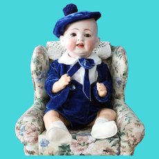 "German antique baby doll-price lowered-Hertel & Schwab - marked ""Made in Germany - 151"" -15 inches"