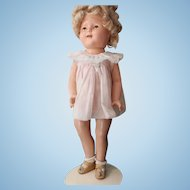 Shirley Temple - 16 inch composition doll in very good condition/original wig-3 outfits