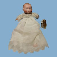 Bye Lo Baby-Brown Sleep Eyes, bisque is excellent, body very clean...10 inch doll