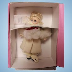 Madame Alexander all porcelain doll in Winter Outfit. NRFB