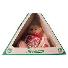 "Hermann Bear, German, ""ENGLISH ROSE""-wool fabric- Mint in original box"