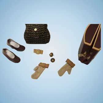 Accessories for Brenda Starr, EFFANBEE Doll, 16 inch/travel items