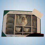 Roehler Hermann Porcelain Tea Set, Child Size; features Tea Set for 4